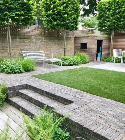 Neat and organised looking outdoor space