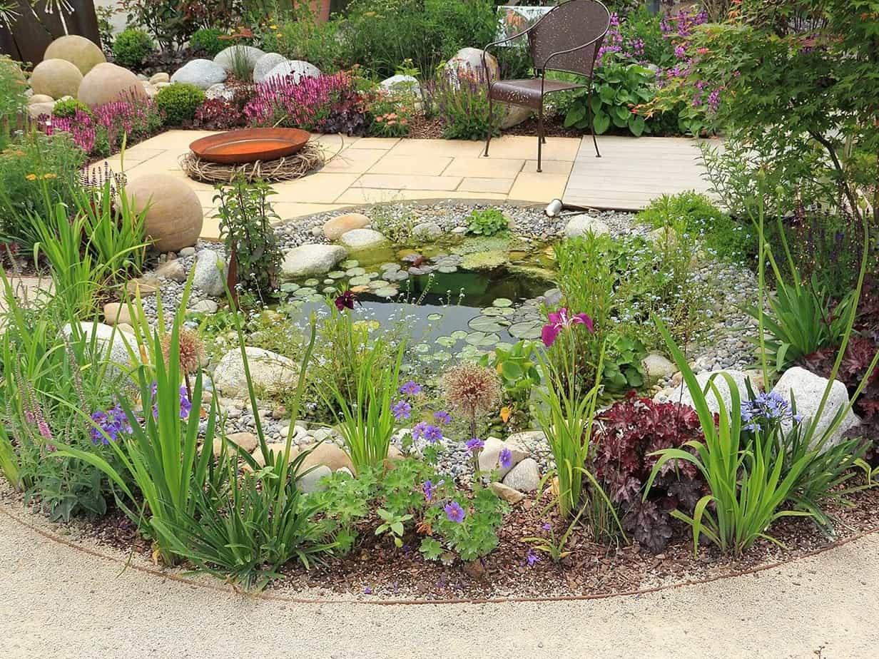 A preened wildlife pond
