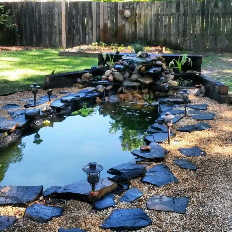 A stunning-looking pond that creates a real focal point in your garden