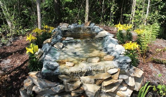 A 2-in-1 water feature: a pond (home for your koi fishes) and a waterfall (increasing the value of your home)