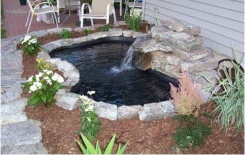 DIY small koi pond project