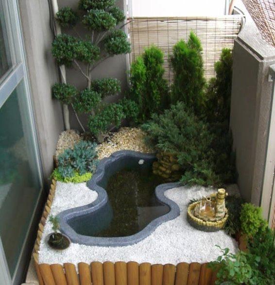 A tiny zen-inspired pond