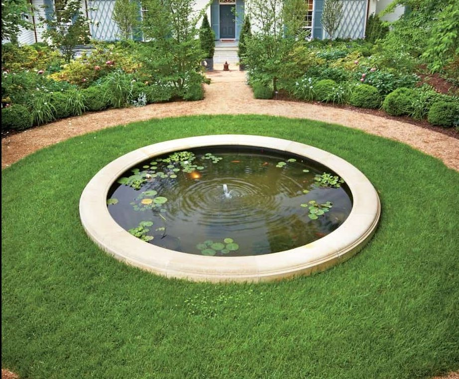 A round pool pond
