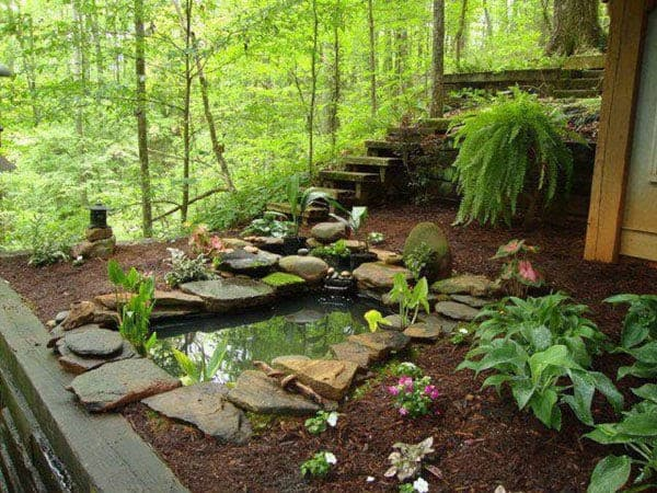 Flagstone nature pond