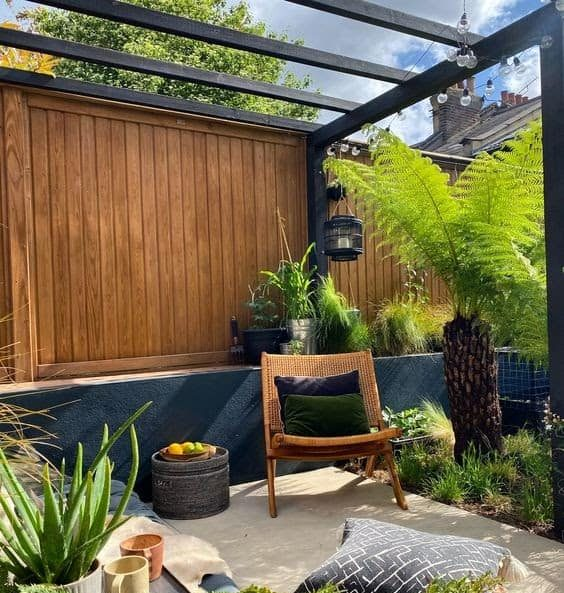 Pergolas give added shade and privacy