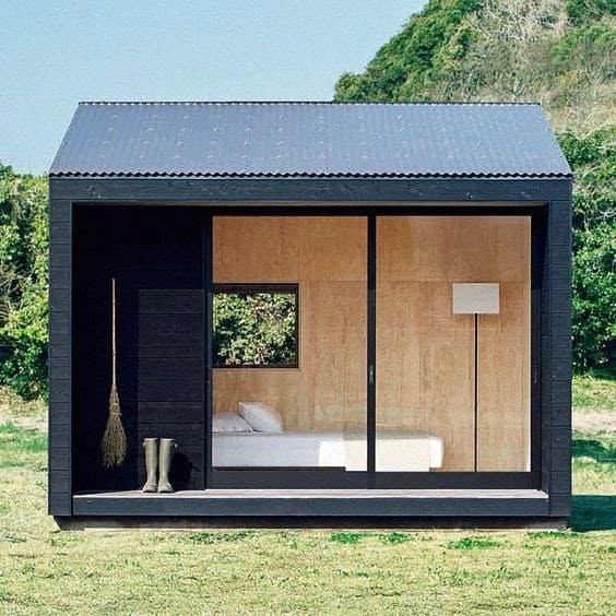 MUJI inspired mini cottage in the garden