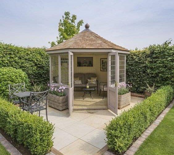 A Victorian-inspired garden cottage