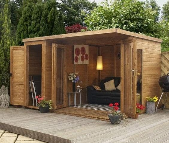 Minimalist garden room