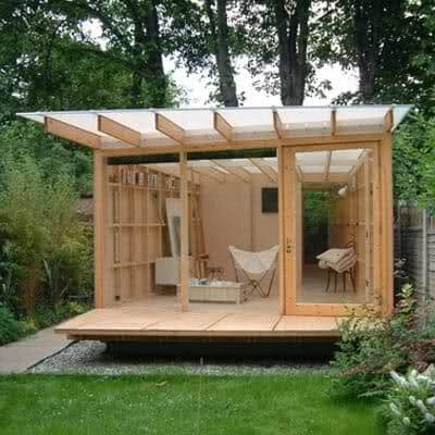 A Japanese zen garden-inspired lounge