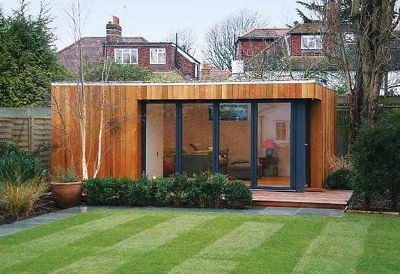 Luxurious wooden garden shed