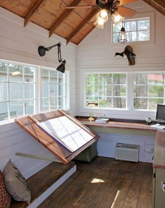 Garden building transformed into an art studio