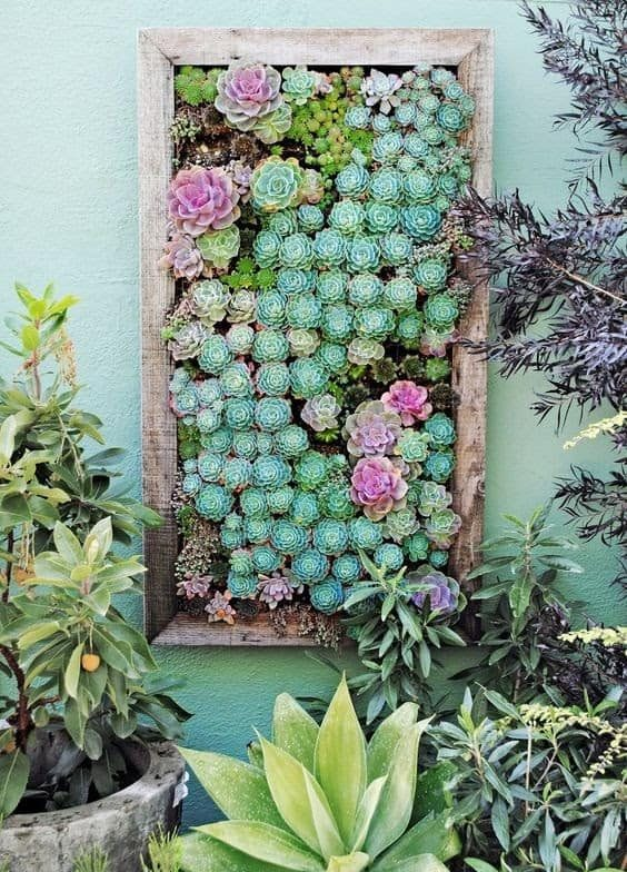 A DIY wall art with flower frames, brightening up a plain wall