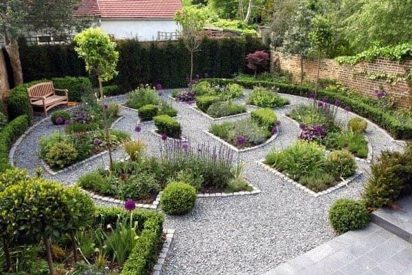 A stunning mini maze in garden
