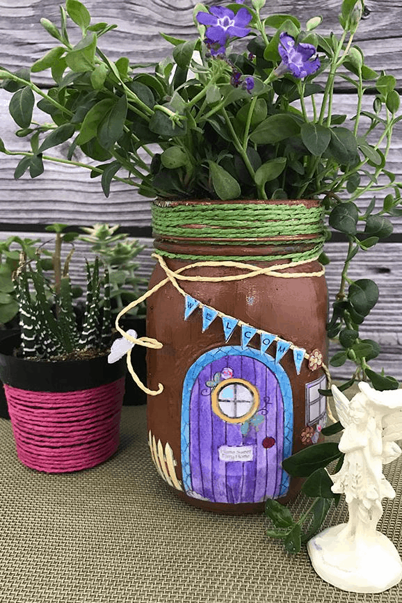 mason jar fairy garden