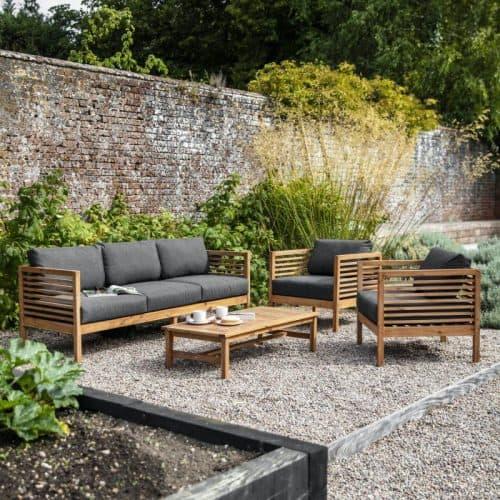 sofa in small backyard
