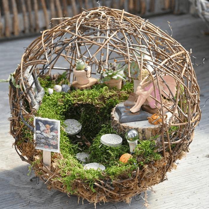 twiggy orb fairy garden