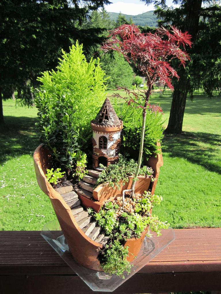 fairy garden castle