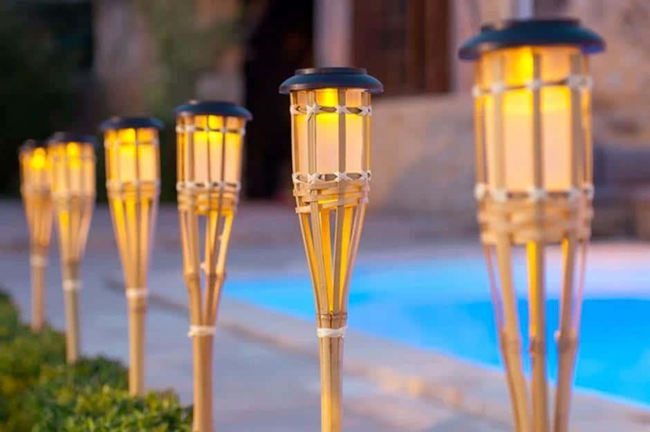 Polynesian bamboo torches
