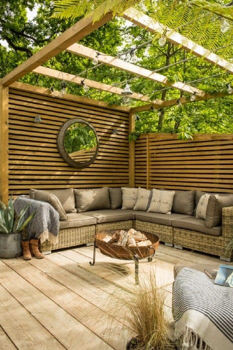 garden seating sanctuary