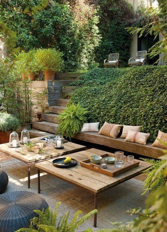 simple wooden outdoor patio style