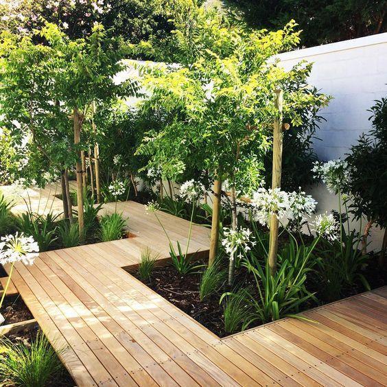 garden wooden decking