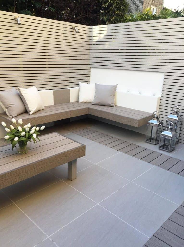 Fulham Modern patio decking