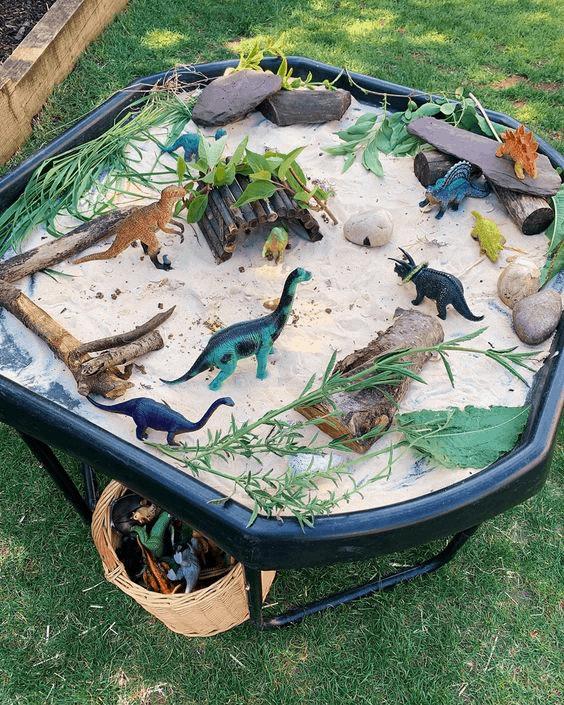 dinosaur fairy garden