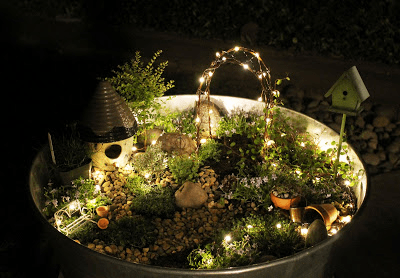 light-up fairy garden