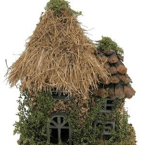 pinecone roof fairy garden