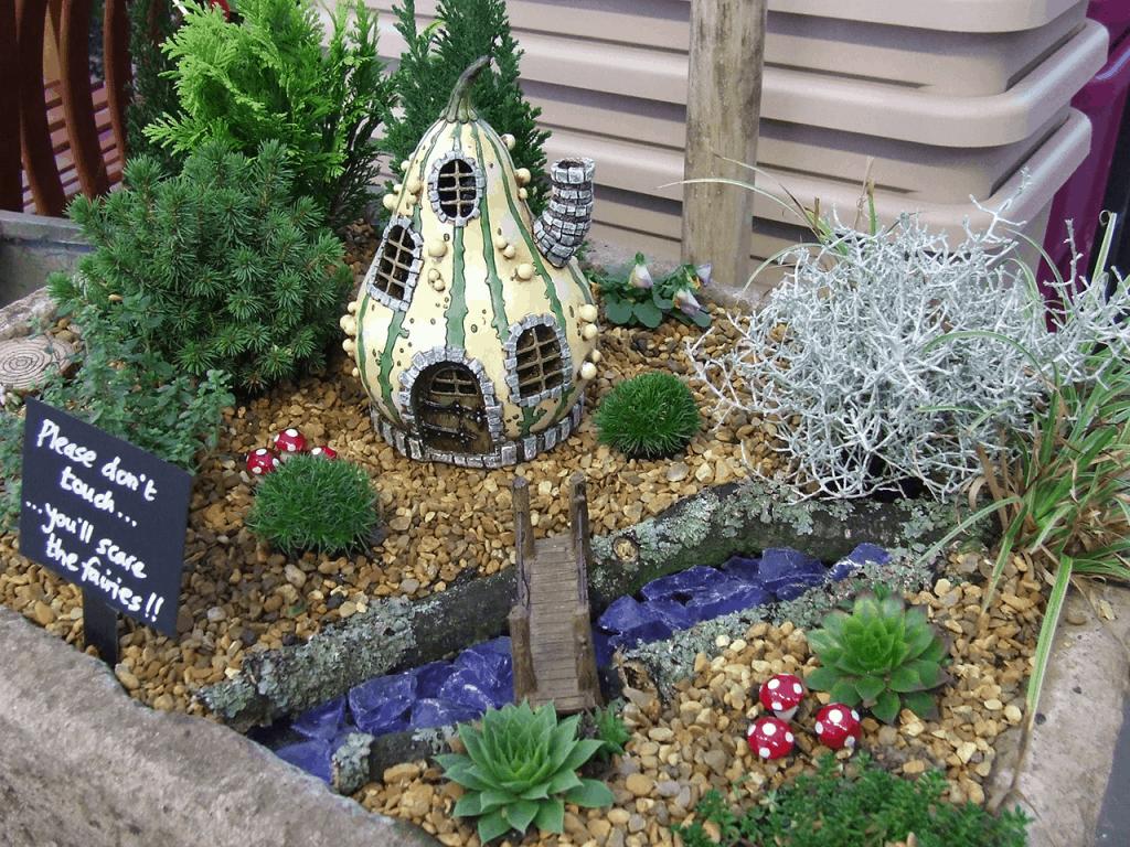 pumpkin gourd fairy cottage