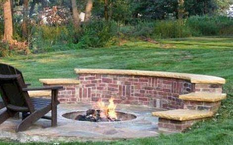 Backyard fire pit setup perfect for stargazing