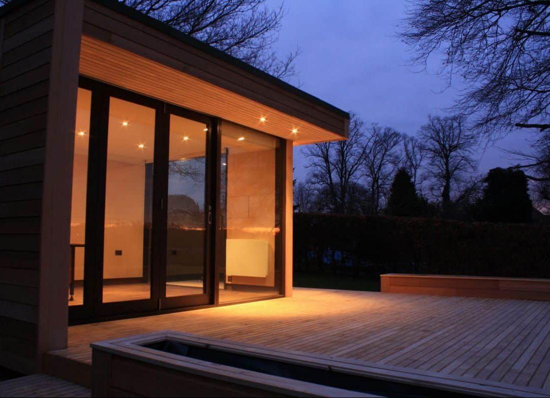 Modern garden and work studio