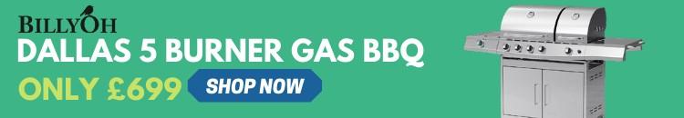 BillyOh Dallas 5 Burner BBQ Ad Banner