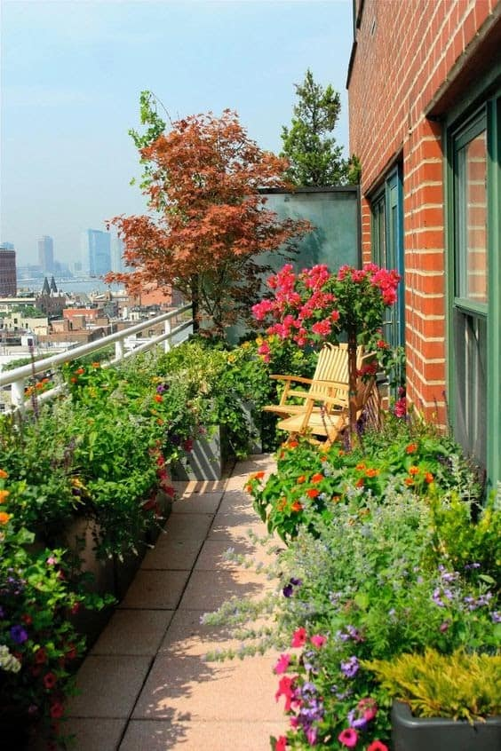 Colourful oasis balcony