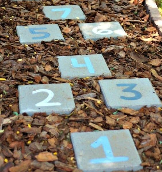Stepping stones with numbers