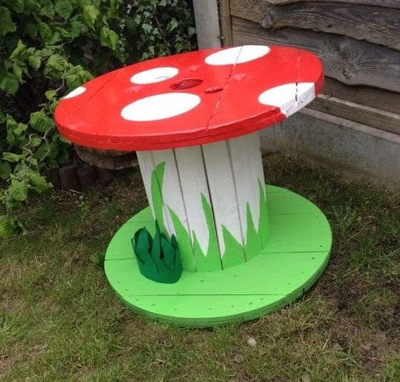 Toad-shaped outdoor table