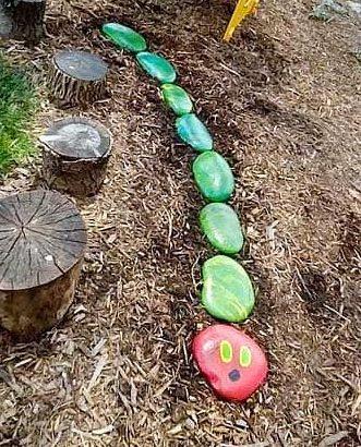 Caterpillar stepping stones