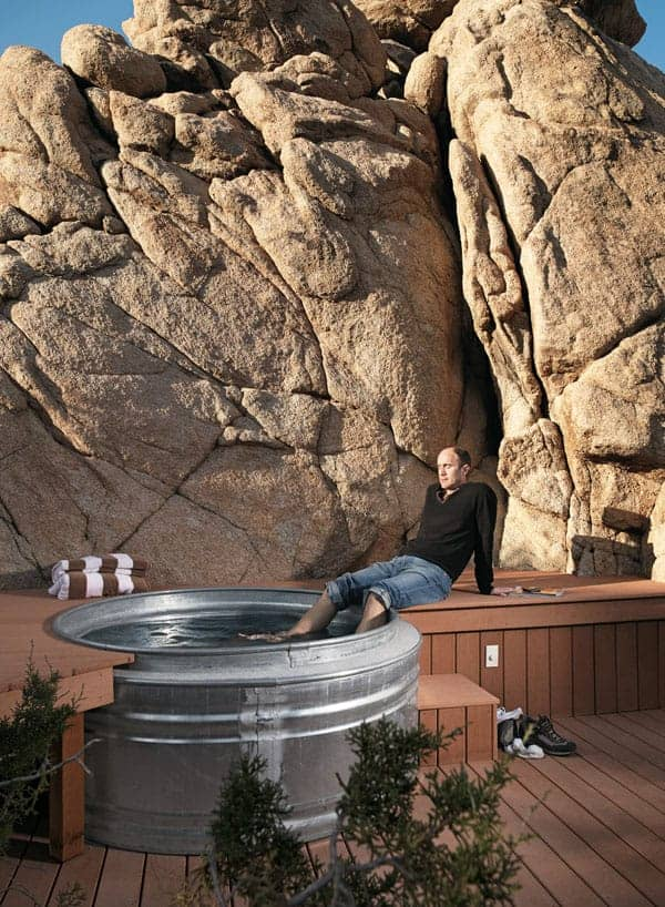 A cowboy inspired hot tub