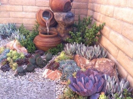Pots and rocks