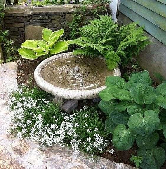 Small corner fountain