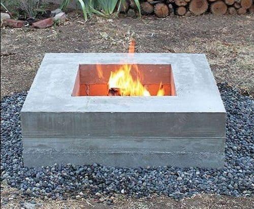 Simple concrete fire pit