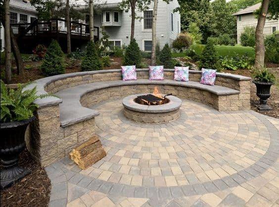 Bricks and stone semicircle