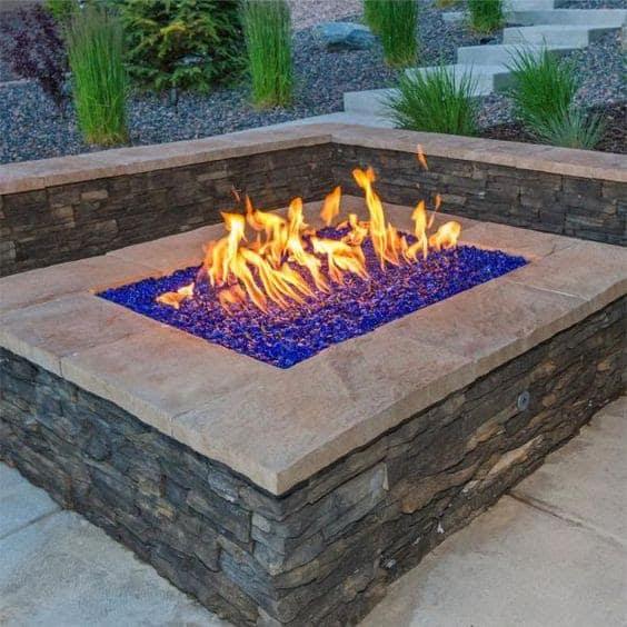 Blue fire pebbles