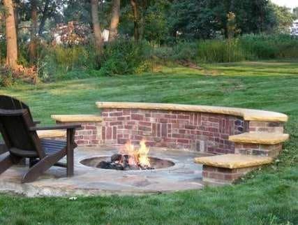 Slope garden fire pit
