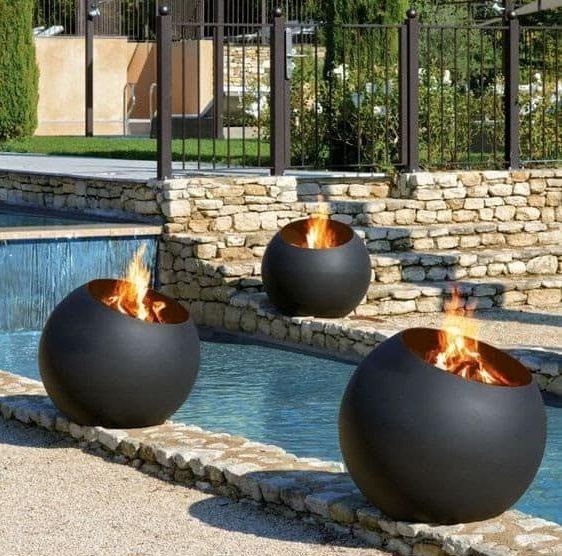 Bubble wood burning fire pits
