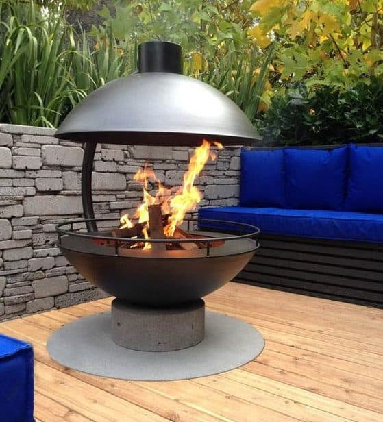 Sphere shaped fire pit