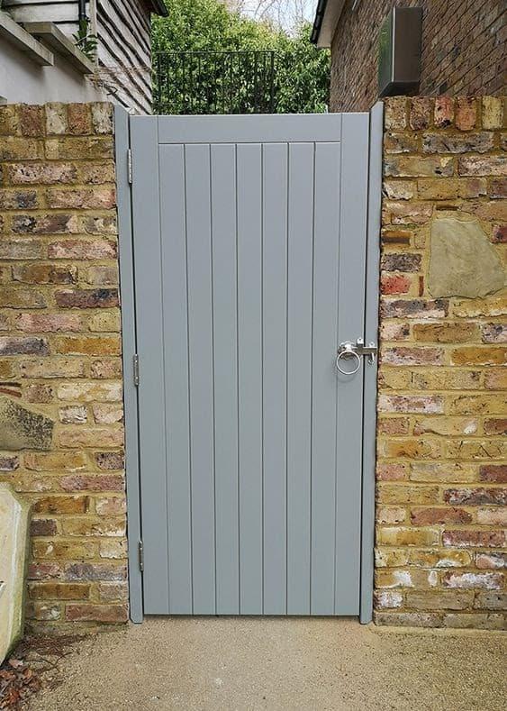 Simple grey back gate