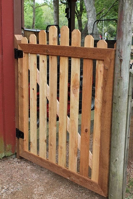 A plain yet charming wooden gate