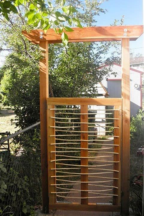 Modern wooden side gate