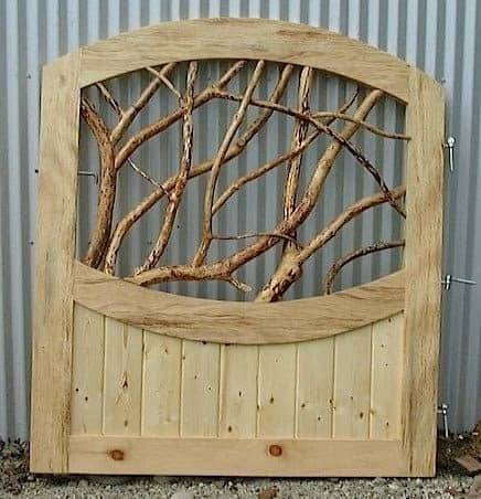 Gate with rustic tree